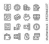 money line icons set. modern...   Shutterstock .eps vector #1922466137