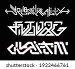 digital graffiti set.... | Shutterstock .eps vector #1922466761
