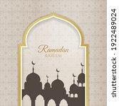 flat ramadan kareem... | Shutterstock .eps vector #1922489024