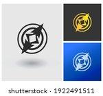 emblem compass wind direction... | Shutterstock .eps vector #1922491511