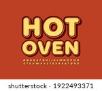 Vector Logo Hot Oven For Cafe ...