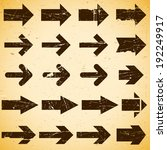 set of grungy vintage arrows on ... | Shutterstock .eps vector #192249917