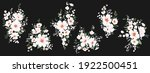 set of bouquets with white... | Shutterstock .eps vector #1922500451