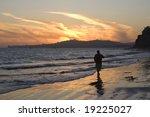 sunset along the california... | Shutterstock . vector #19225027