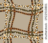 scarf with leopard and tiger... | Shutterstock .eps vector #1922510801