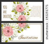 set of invitations with floral... | Shutterstock .eps vector #192251771
