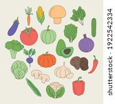 healthy vegetables icons around ...   Shutterstock .eps vector #1922542334