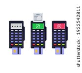 a set of terminals for payment... | Shutterstock .eps vector #1922542811
