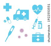 various medical icons  first...   Shutterstock .eps vector #1922553551