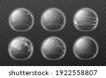 bubble shields set. protection... | Shutterstock .eps vector #1922558807