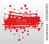 vector splats splashes and... | Shutterstock .eps vector #1922564351
