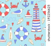 vector seamless pattern with... | Shutterstock .eps vector #192256625