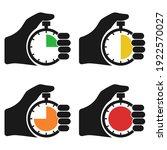 stopwatch in hand  icon set...   Shutterstock .eps vector #1922570027