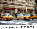 Yellow Taxi In Manhattan  New...