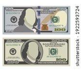 hundred dollar bills in new and ... | Shutterstock .eps vector #1922593724