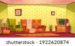 vintage interior of living room ... | Shutterstock .eps vector #1922620874