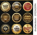 gmo and gluten free label... | Shutterstock .eps vector #192262094