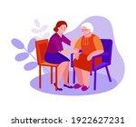 support  care for the elderly.... | Shutterstock .eps vector #1922627231