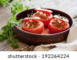 stuffed tomatoes | Shutterstock . vector #192264224