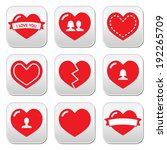 love hearts icons set for... | Shutterstock .eps vector #192265709