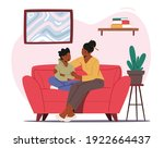mother comforting child sitting ... | Shutterstock .eps vector #1922664437
