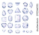 set of realistic white jewels.... | Shutterstock .eps vector #192266531