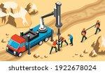 drilling workers engineers... | Shutterstock .eps vector #1922678024