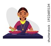 illustration of indian woman... | Shutterstock .eps vector #1922685134