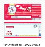 cute boarding pass ticket... | Shutterstock .eps vector #192269015
