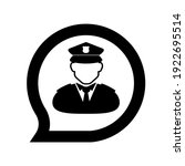 police icon on white background   Shutterstock .eps vector #1922695514