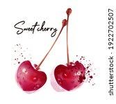 cherry vector berries isolated...   Shutterstock .eps vector #1922702507