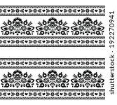 seamless polish black folk... | Shutterstock .eps vector #192270941