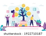 business people harvest from... | Shutterstock .eps vector #1922710187