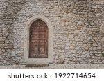Ancient Wooden Arcade Door With ...