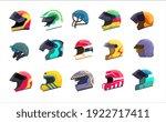 motor helmet racing uniform...   Shutterstock .eps vector #1922717411