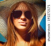 portrait of a fashionable long...   Shutterstock . vector #192272171