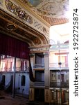 Small photo of Ceinfuegos, Cuba - October 2019 : Beautiful interior design of Teatro Tomas Terry or Theater of Tomas Terry (name of a Venezuelan industrialist) under renovation.