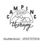 camping is my therapy vector...   Shutterstock .eps vector #1922727014