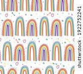 rainbow vector cartoon seamless ...   Shutterstock .eps vector #1922752241