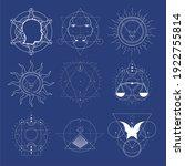 mystical geometry symbols... | Shutterstock .eps vector #1922755814