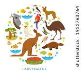 animals of australia. birds ...   Shutterstock .eps vector #1922763764