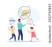 vector cartoon flat family...   Shutterstock .eps vector #1922765831
