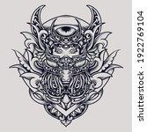 tattoo and t shirt design black ... | Shutterstock .eps vector #1922769104
