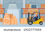 warehouse interior with...   Shutterstock .eps vector #1922777054