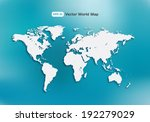 world map. multi purpose... | Shutterstock .eps vector #192279029