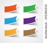 vector set of colorful stickers | Shutterstock .eps vector #192281015