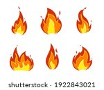 collection of fire icons.... | Shutterstock .eps vector #1922843021