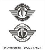 logo template for scrap metal...   Shutterstock .eps vector #1922847524