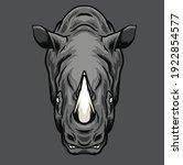 Rhino Head Vector Illustration  ...