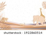 illustration with african wild... | Shutterstock .eps vector #1922860514